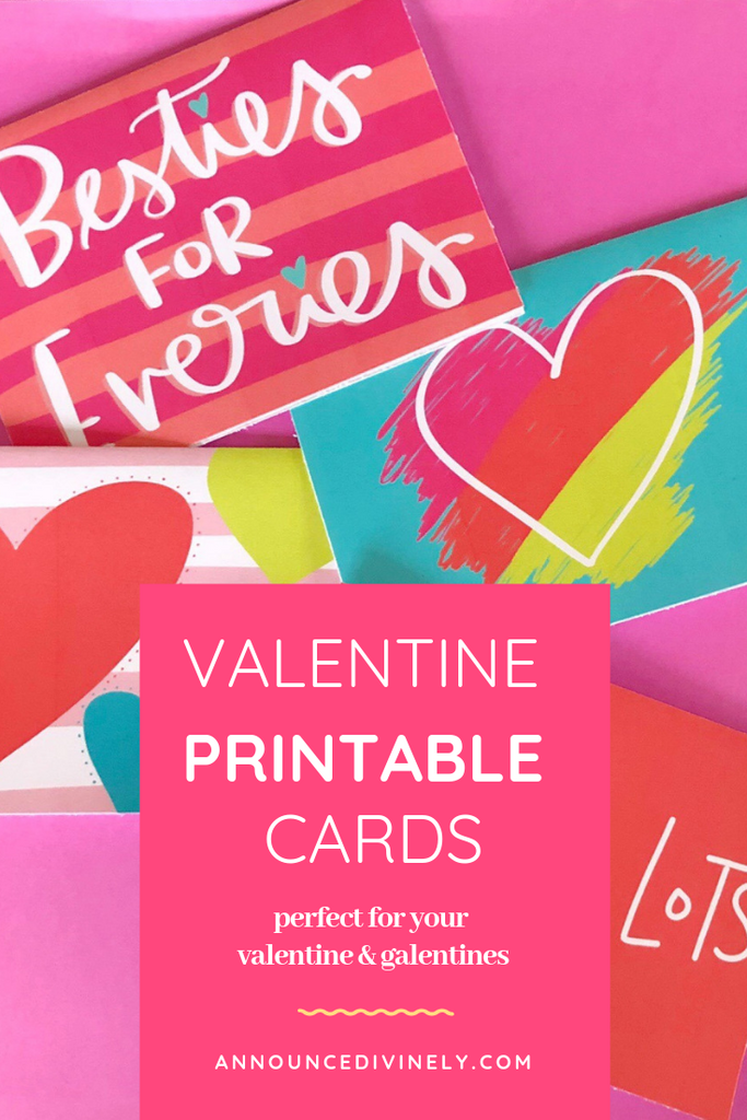 Announce Divinely Valentine Printable Cards