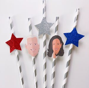 Joe and Kamala Straws