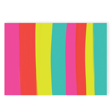 Announce Divinely Color Stripes Gift Wrap