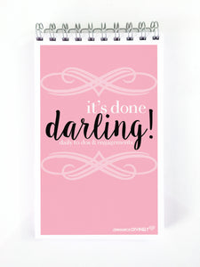 It's Done Darling Notepad Planner