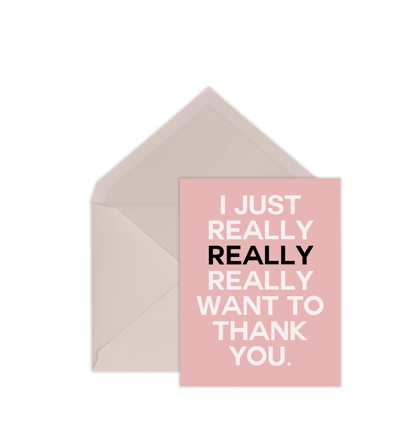 Announce Divinely Lots of Thanks Card