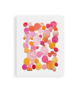 Pinks and Oranges Abstract Print