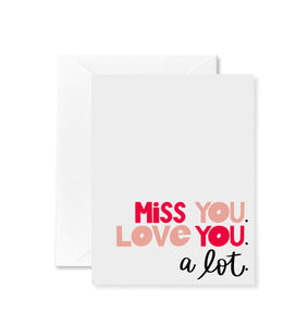 Miss and Love Card