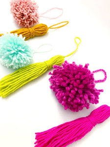 Pom Pom and Tassel Ornaments