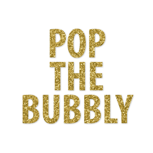 Announce Divinely Pop the Bubbly Banner