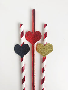 Queen of Hearts Paper Straws