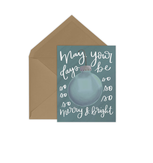 Merry & Bright Icy Blue Card