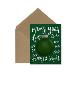 Merry & Bright Evergreen Card