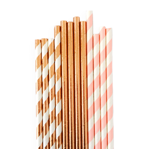Blushing Rose Straws