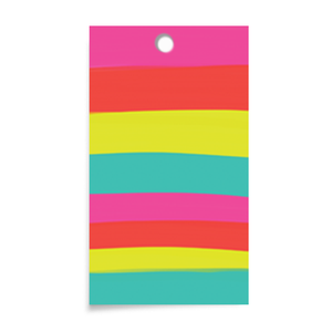 Color Stripes Gift Tags