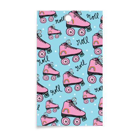 Announce Divinely Roller Skate Gift Tag