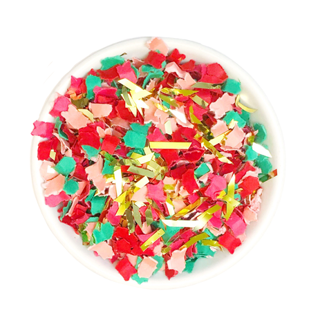 Announce Divinely Rosy Holiday Confetti