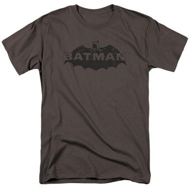 Batman Newsprint Logo Retro T-Shirt
