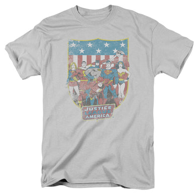 Justice League American Shield Retro T-Shirt