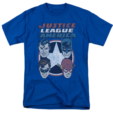 Justice League 4 Stars Retro T-Shirt