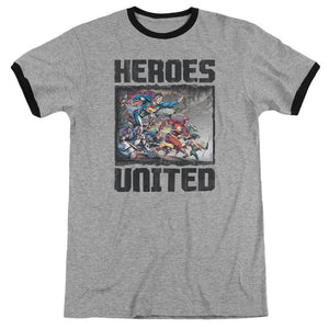 Justice League The Charge Retro Ringer T-Shirt
