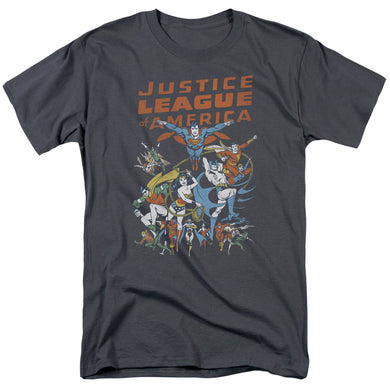 Justice League Big Group Retro T-Shirt