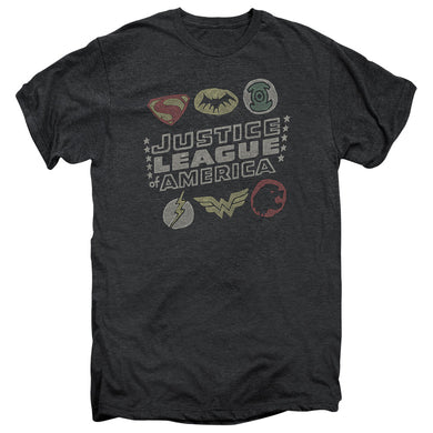 Justice League Symbols Premium Retro T-Shirt
