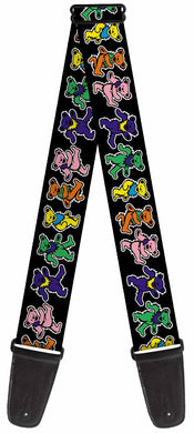 Grateful Dead Dancing Bears Guitar Strap