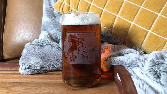 The Prancing Pony Pub Glass