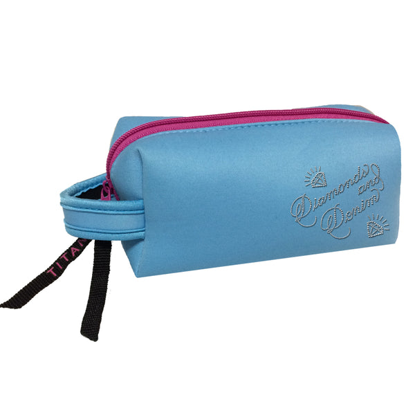 Neon Cosmetic Bag - Diamonds & Denim