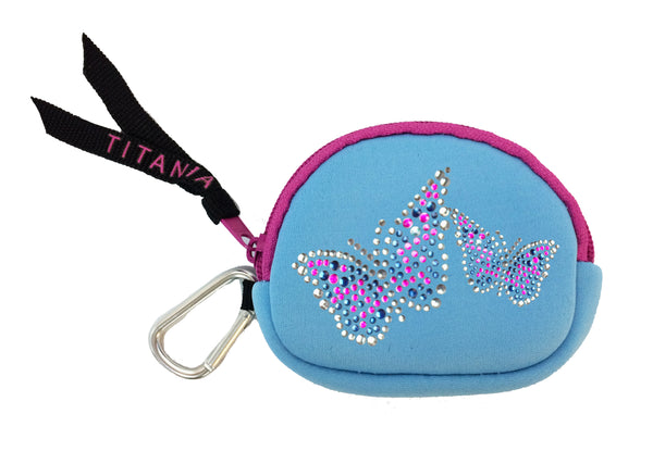 Neon Coin Purse - Butterflies