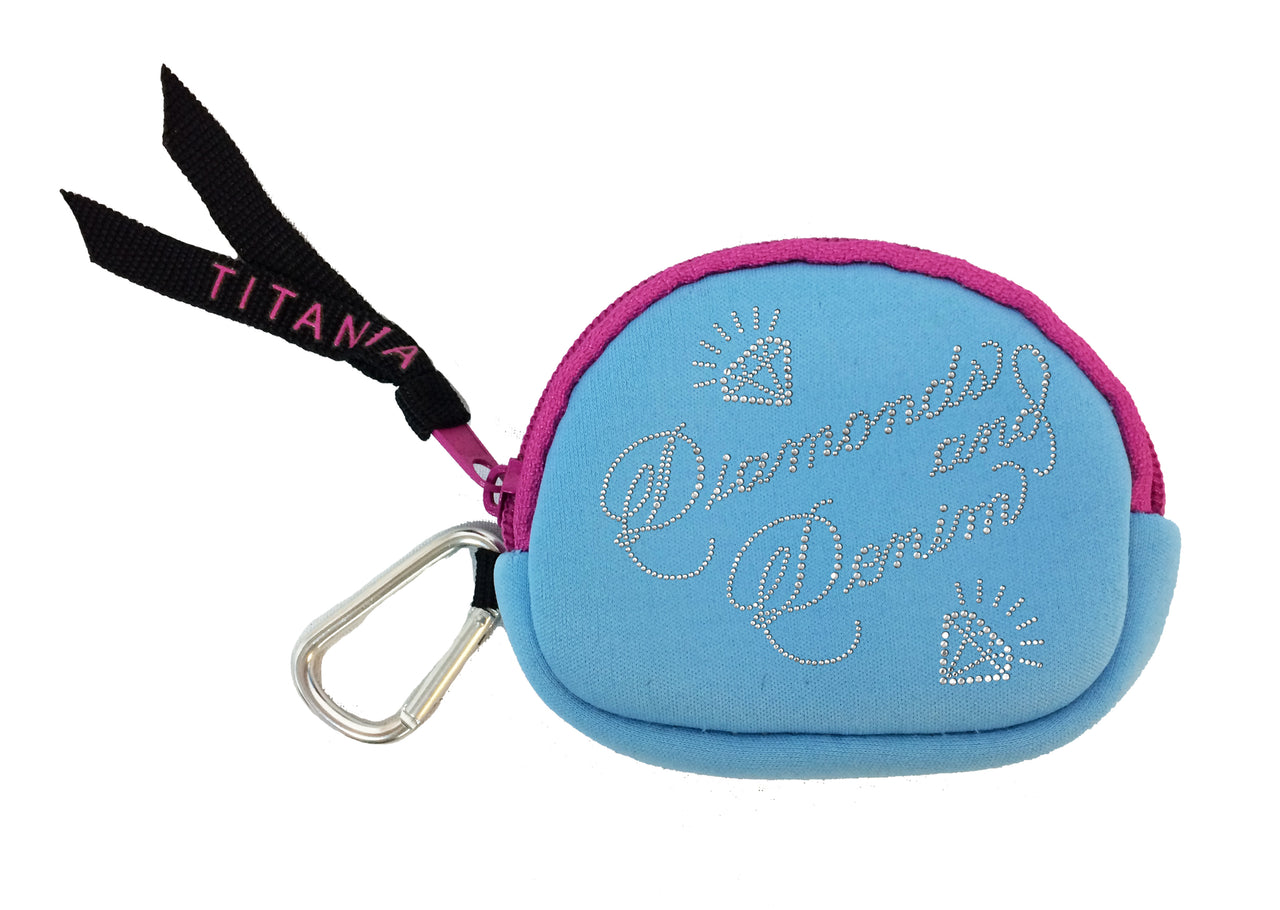 Neon Coin Purse - Diamonds & Denim