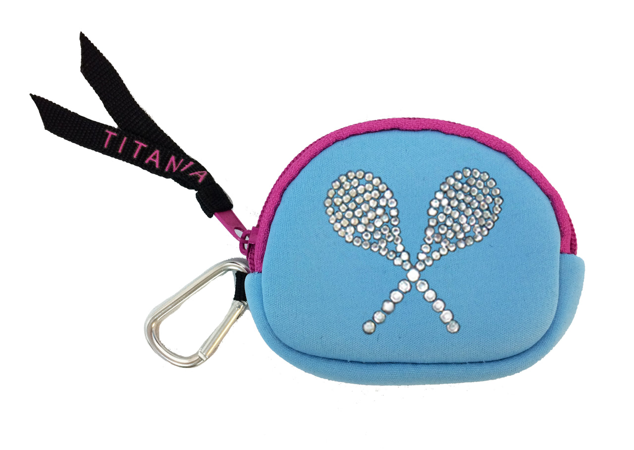 Neon Coin Purse - Tennis Raquets