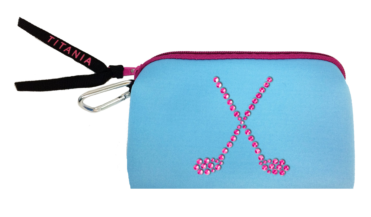 Neon Clutch Purse - Crossed Clubs