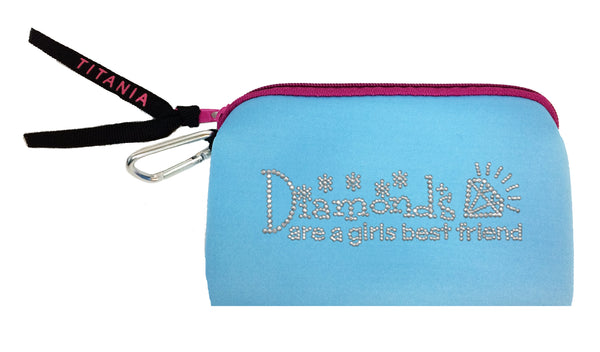 Neon Clutch Purse - Diamonds Are A Girl's Best Friend