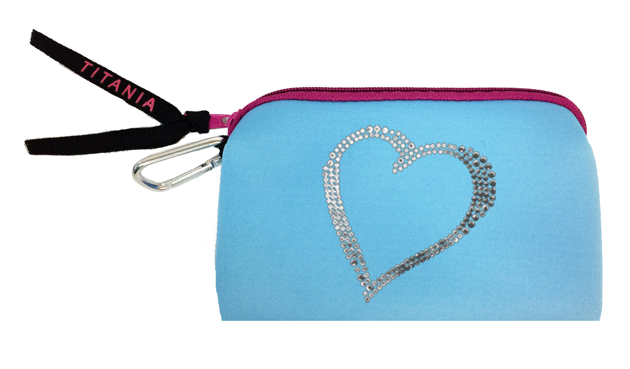 Neon Clutch Purse - Heart