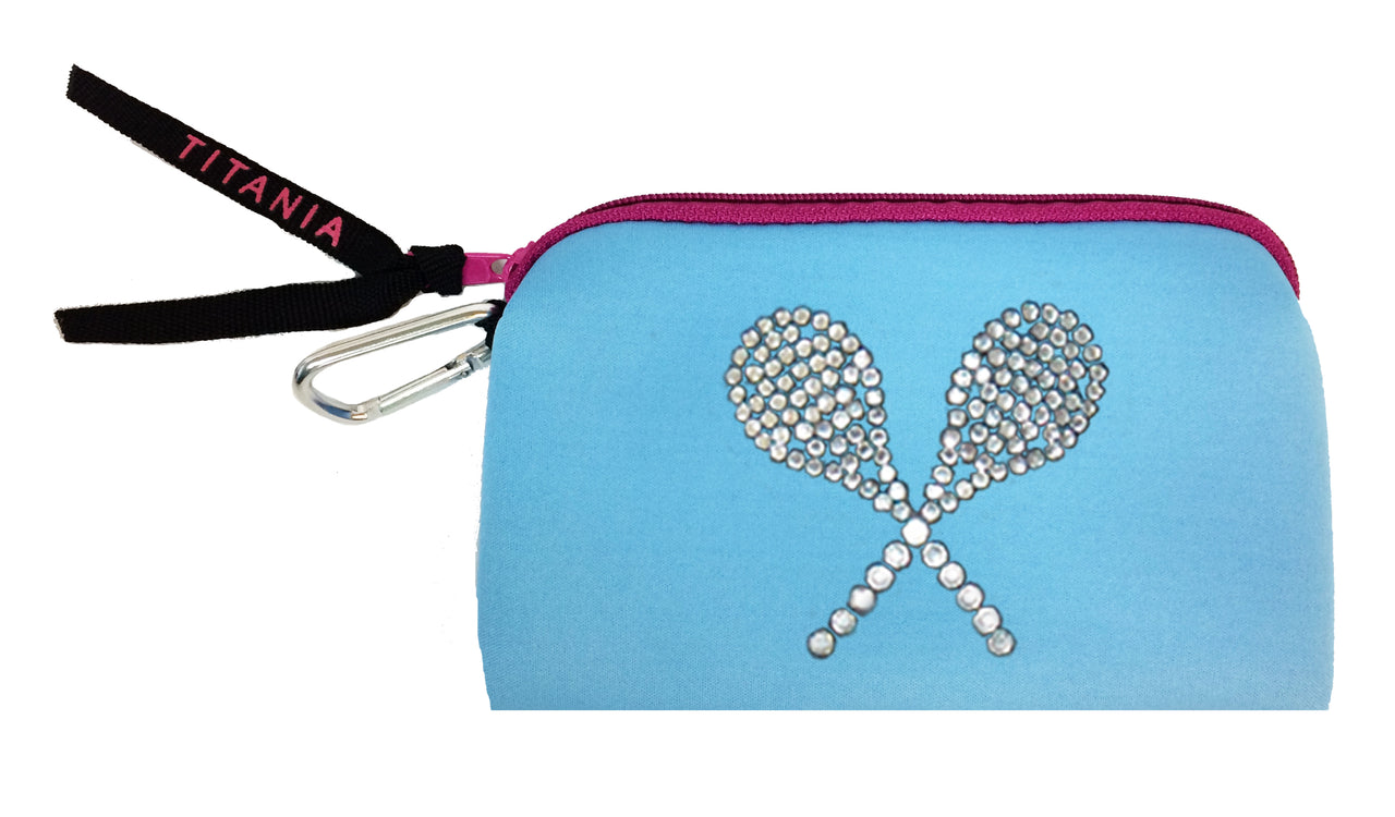 Neon Clutch Purse - Tennis Raquets