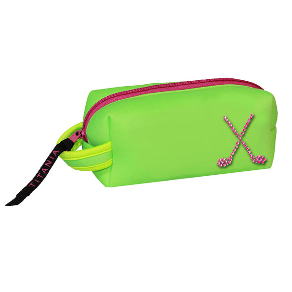 Neon Cosmetic Bag - Crossed Clubs