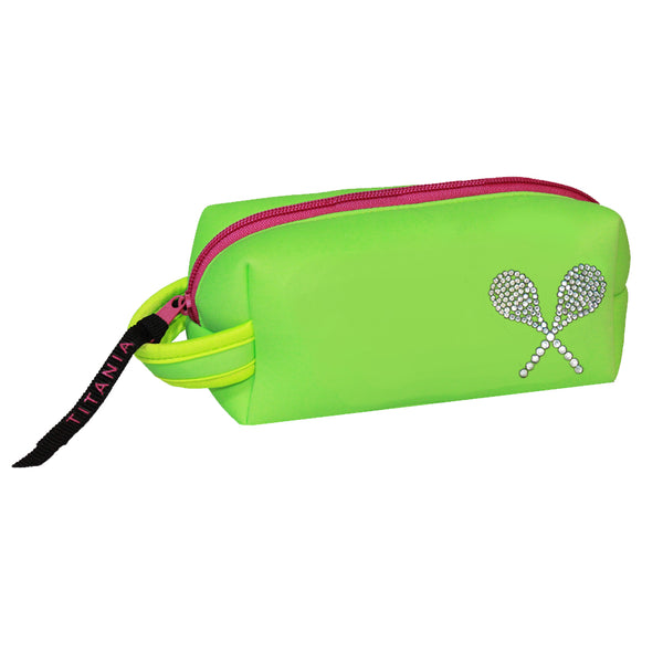 Neon Cosmetic Bag - Tennis Raquets