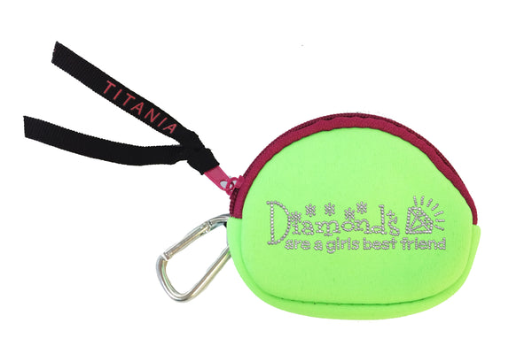 Neon Coin Purse - Diamonds Are A Girl's Best Friend