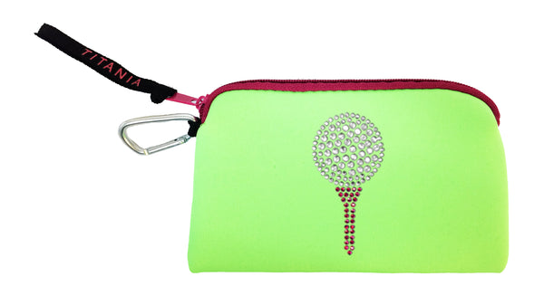 Neon Clutch Purse - Golf Tee