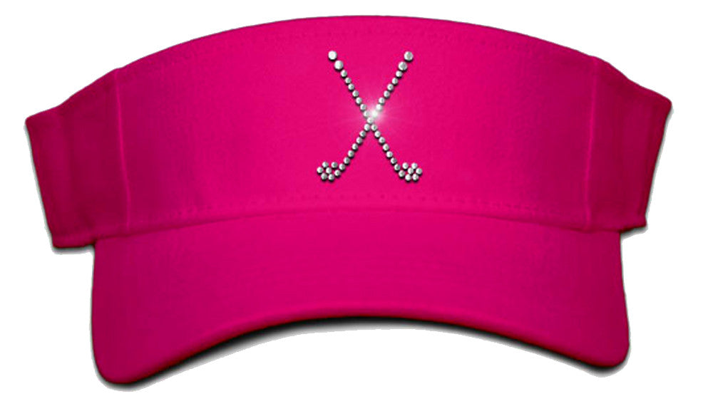 Lady's Velcro Visor - Crossed Clubs