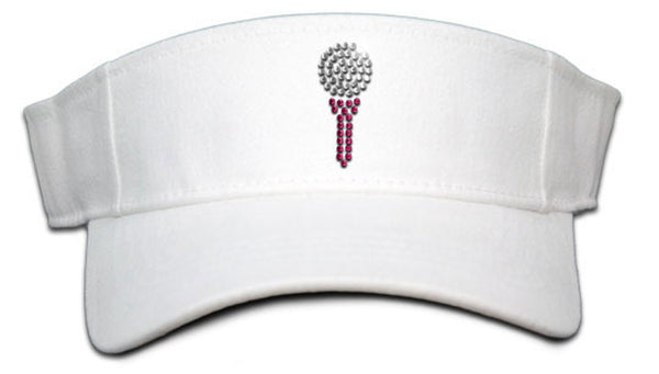 Lady's Velcro Visor - Ball and Tee