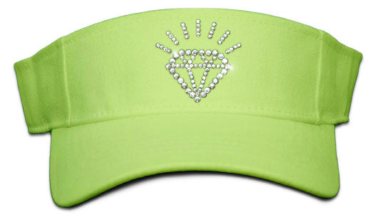 Lady's Velcro Visor - Diamond
