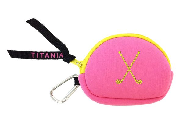 Neon Coin Purse - Crossed Clubs