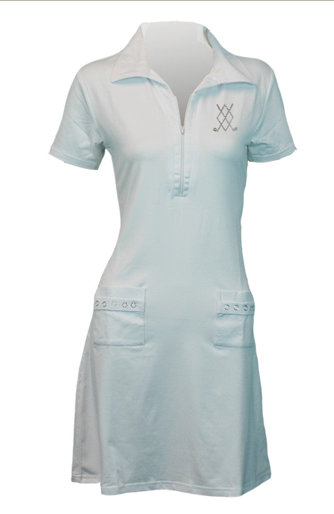 Golf Dress - Argyle Design - Last Chance