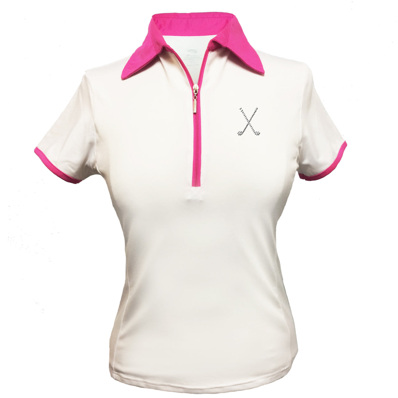 Lady's Polo - Crossed Clubs Design