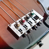haramis-musical-hardware - Ray Ross Saddle-Less 4-String Bass Bridge