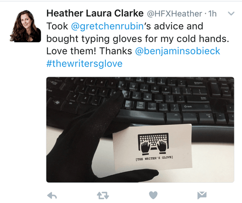 Gloves for typing on keyboard