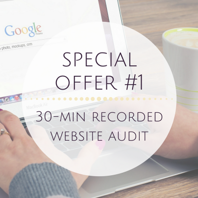 Special Offer #1 - Pre-Recorded 30-Minute Website Audit