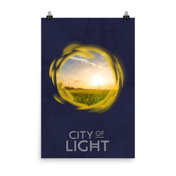 "CITY OF LIGHT Poster – 12""x18"" or 24""x36""!"