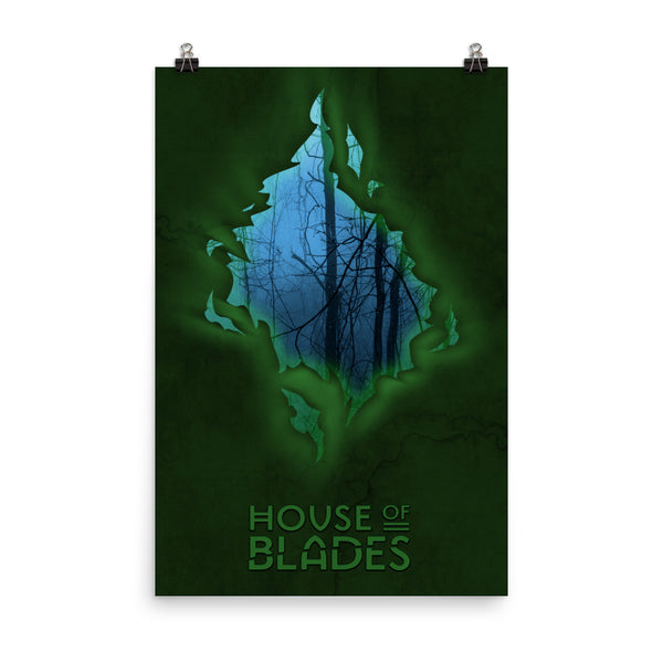 "HOUSE OF BLADES Poster – 12""x18"" or 24""x36"""