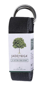 Jade Yoga Strap 8 Feet - Black