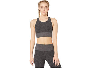 Alo Yoga Medium Alosoft Serenity Bra - Dark Heather Grey