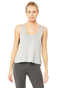 Alo Yoga Acme Tank - Alloy